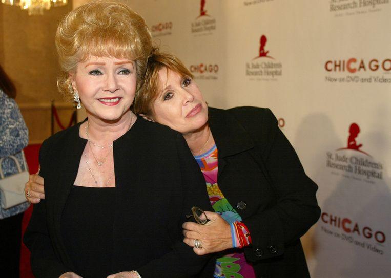 Met haar eveneens beroemde moeder Debbie Reynolds.