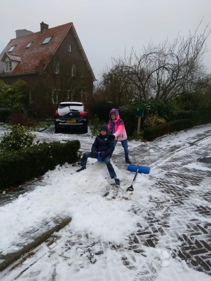 Sneeuwpret in Groessen