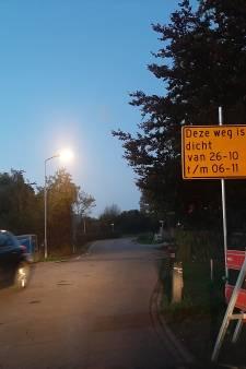 Entree noordkant Zetten op slot voor aanleg rioolbuis