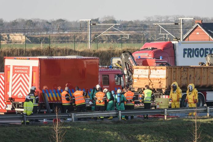Ongeval op de E19.