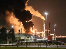 Grote brand bij Esso in Botlek geblust