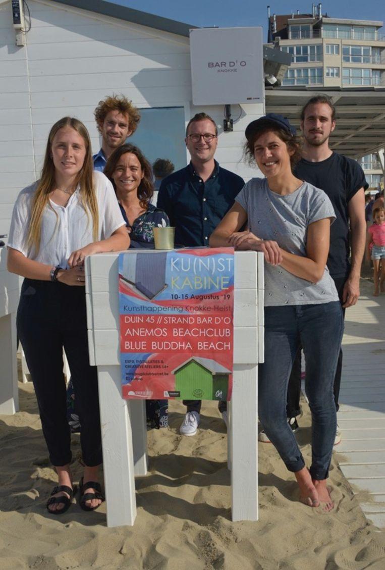 De kunstenaars gaan vijf dagen lang aan de slag op het strand van Knokke-Heist