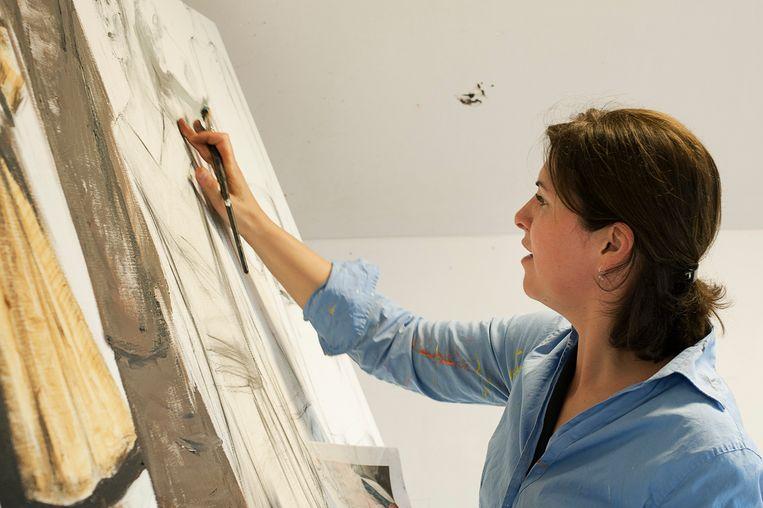 Isabelle schildert en schetst vooral vrouwenfiguren.