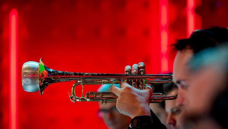 Het Metropole Orkest bij DWDD in november. Beeld Anp