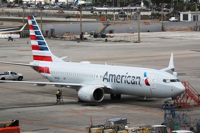 Een Boeing 737 Max van American Airlines.