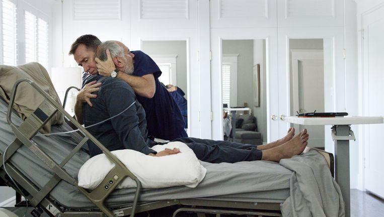Acteur Tim Roth in Chronic aan het werk als verzorger van terminale patiënten. Beeld