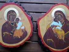 De 'Heilige eik van Goirle' wordt geëerd met iconen