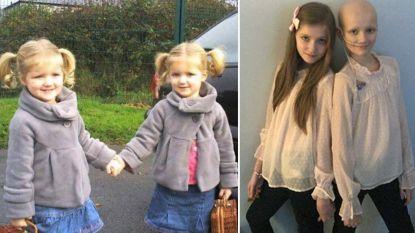 Dokters staan voor raadsel: Megan (11) heeft kankersymptomen maar het blijkt haar identieke tweelingzus die ziek is