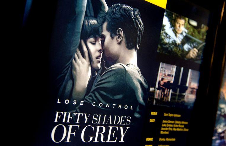 Een filmposter van Fifty Shades of Grey in de bioscoop. Beeld anp
