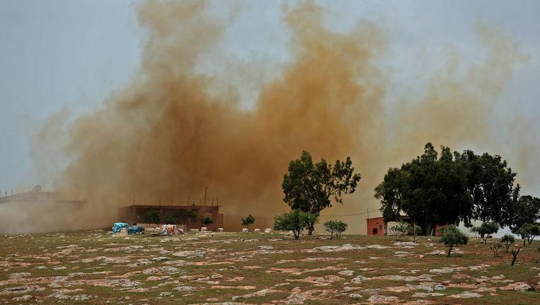 Archiefbeeld van een explosie in Syrië. Beeld ANP