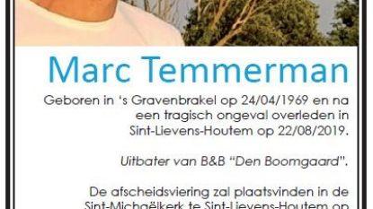 B&B-uitbater Marc Temmerman (50) wordt zaterdag begraven