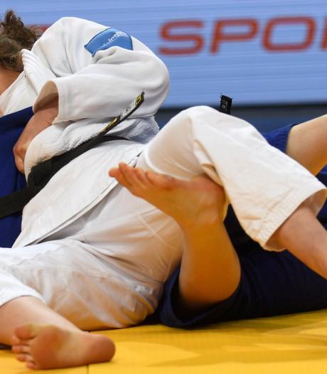 Judoka Sanne van Dijke baalt van zilver op GP Den Haag