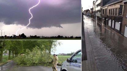 Hevig onweer trekt over Vlaanderen: dak van sporthal gaat vliegen in Lummen, 5 gewonden in Brussel