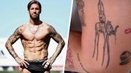 Sergio Ramos toont zijn tattoos: een voetbalveld, maar ook een olifant en odes aan zijn kinderen en overleden vriend