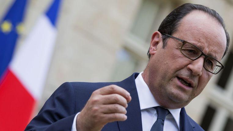 President Hollande. Beeld reuters