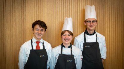 Studenten Rik, Emma en Jan verdedigen PIVA op internationale culinaire wedstrijd in Kroatië