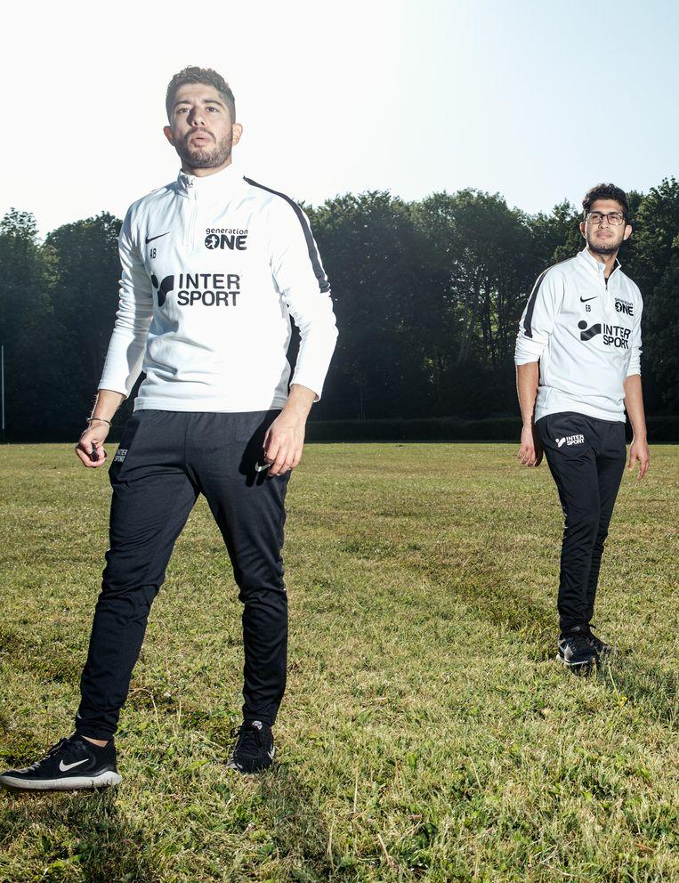 De trainers van Generation One, broers Atif (links) en Emrâh Bouyahi. Beeld Jakob Van Vliet