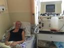 Annemieke de Kloe ten tijde van haar behandeling in Moskou.