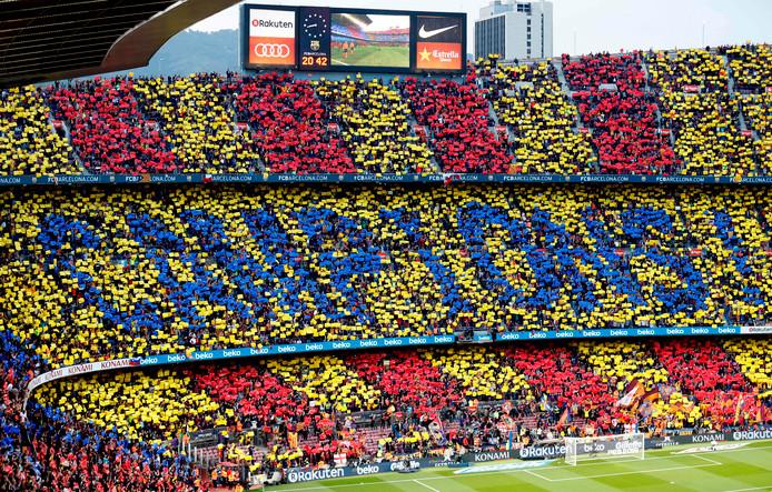 Barcelona werd dit seizoen kampioen van Spanje.