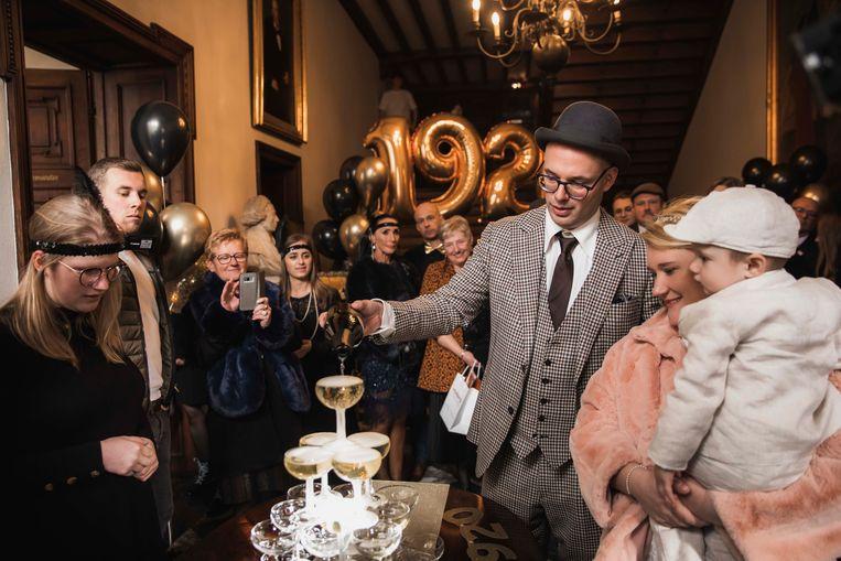 Jelke en Bert tijdens hun trouw op 20/02/2020 in Hasselt.