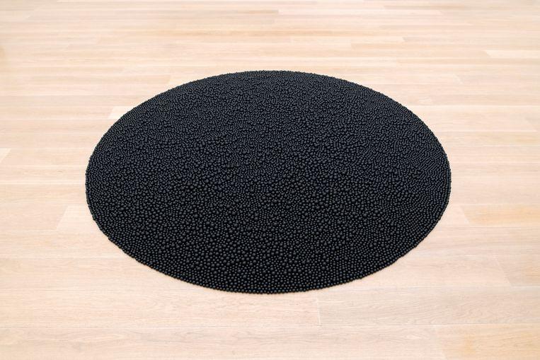 Turbulence (Black) van Mona Hatoum uit 2014. Beeld Antoine van Kaam / collectie Museum Voorlinden