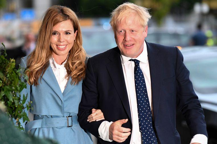 Boris Johnson, hier met zijn huidige partner Carrie Symonds.