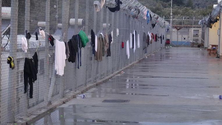 Het vluchtelingenkamp Moria op Lesbos, Griekenland. Beeld anp