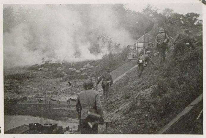 12 mei 1940; Duitse aanval op de Grebbeberg.