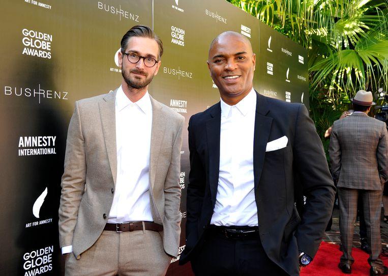 Christopher Renz (links) en Gerard Bush in 2016. Beeld Getty