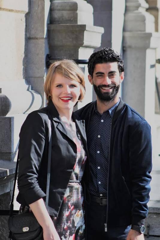 Julie Droeghaag en Anwar Manlasadoon.