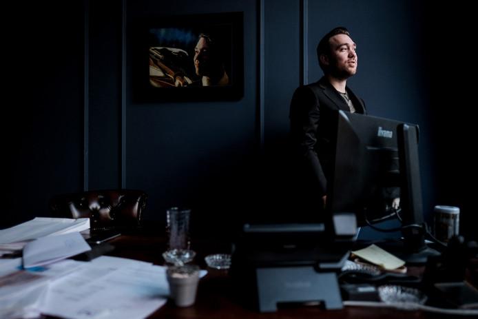 Kevin Wevers in zijn werkkamer.