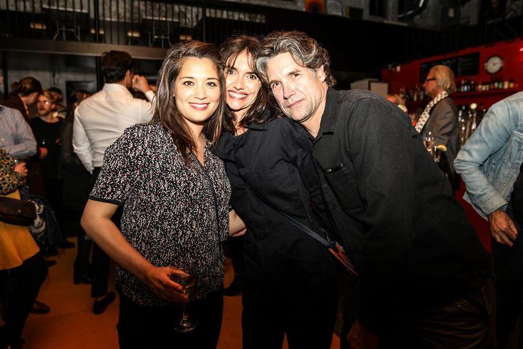 Bij de premiere van Beautiful Boy: Zyanya Draijer, Vanessa Henneman en Daniel Boissevain Beeld Eva Plevier