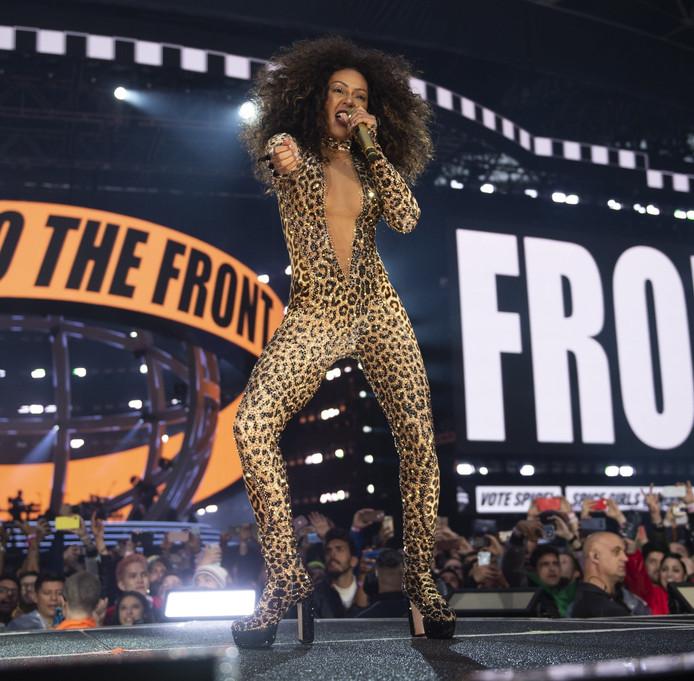 Mel B, lors du concert des Spice Girls, à Londres, le 16 juin.