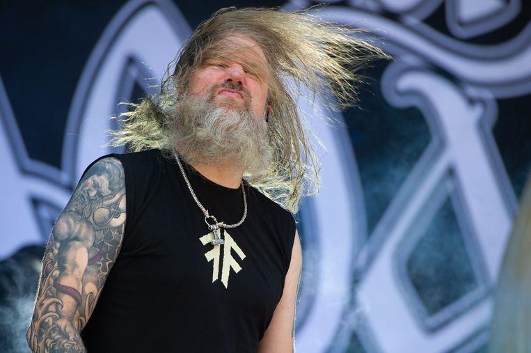 De Zweedse deathmetalband Amon Amarth komt eind dit jaar naar Amsterdam.  Beeld EPA