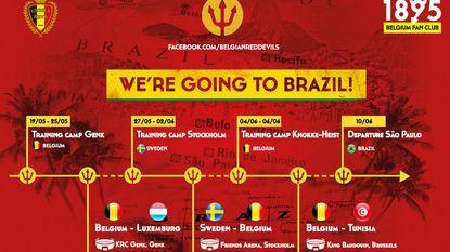 Op naar Brazilië: stages in Genk, Stockholm en Knokke en duel tegen Ibrahimovic