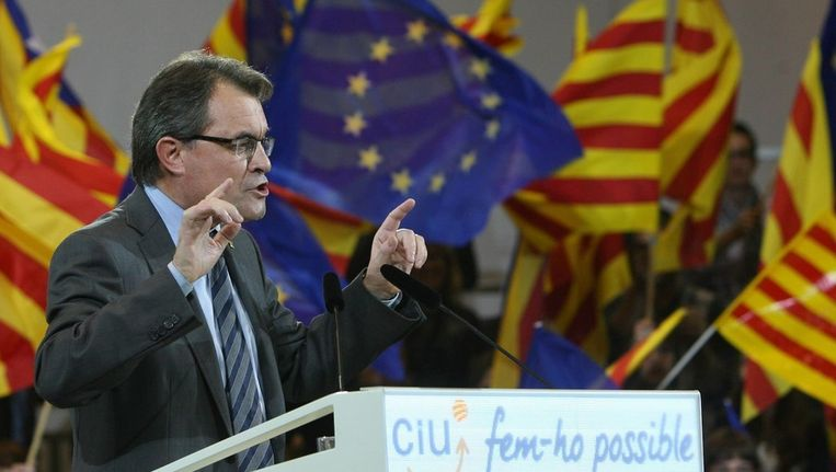 De Catalaanse regeringsleider Arthur Mas, Beeld epa
