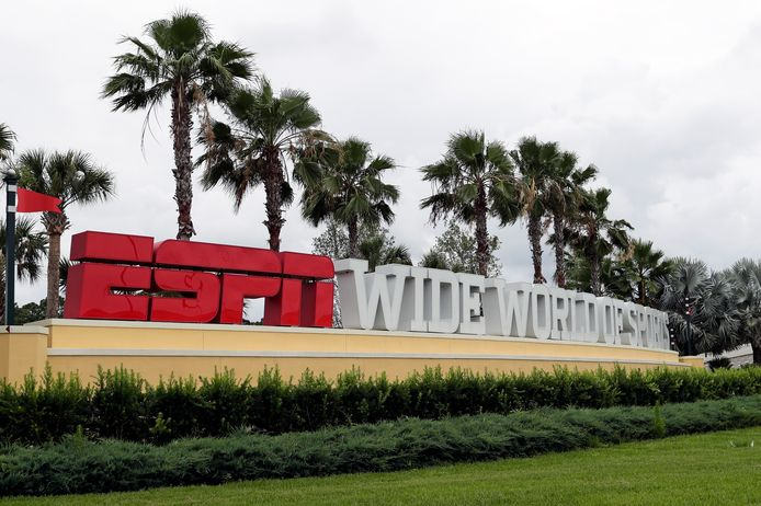De ingang van ESPN's Wide World of Sports bij Walt Disney World.