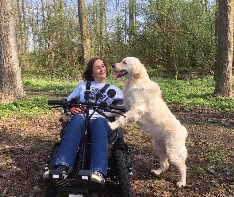Krisje Peeters en Rubi waren onafscheidelijk. Ze mist haar hulphond elke dag.