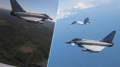 RAF toont intercepties van Russische militaire vliegtuigen boven Estland