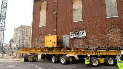 VIDEO. Straf: oudste synagoge van Washington D.C reist even door de stad voor verhuis naar nieuwe plek