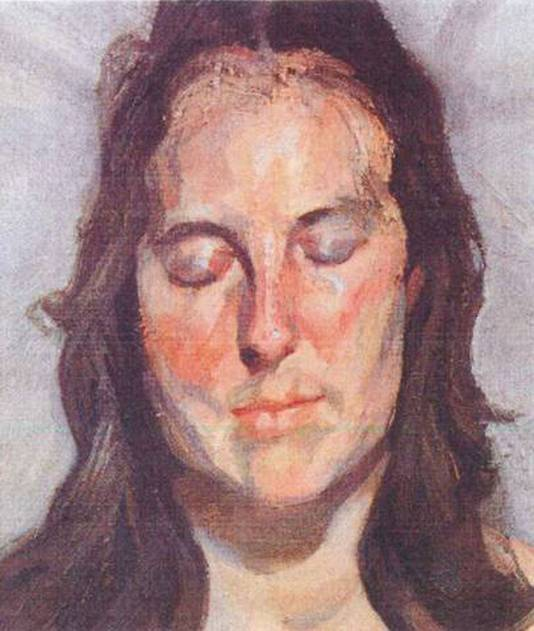 Lucian Freud 'Woman with Eyes Closed' (2002)