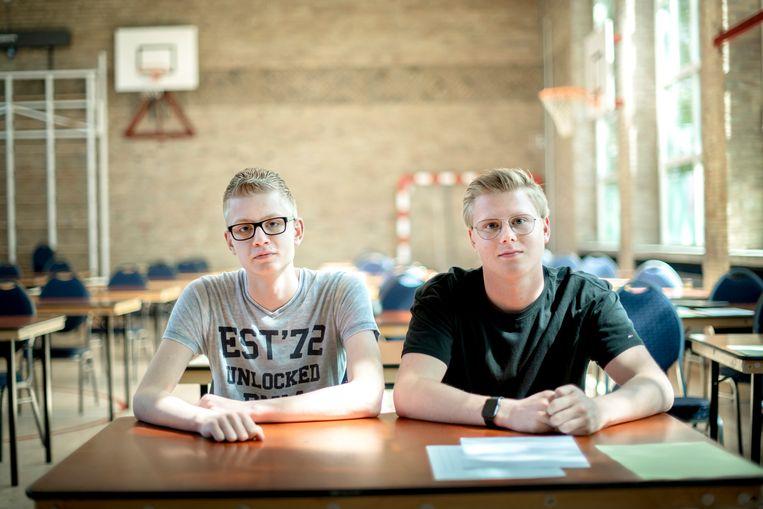 Lars (links) en Daan willen beiden verder in de ICT. 'Daar zitten wel meer autisten.' Beeld