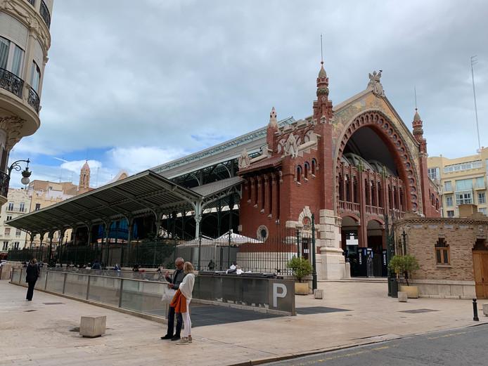 Mercado de Colón in Valencia, foto ter illustratie.