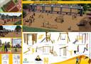 De plannen van Boerplay in beeld gebracht. De leerlingen zien dit ontwerp wel zitten. Het kreeg maar liefst 70 procent van de stemmen.