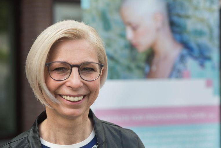 Brigitte Marechal is één van de zeven Limburgse kappers die hun diploma haalden.