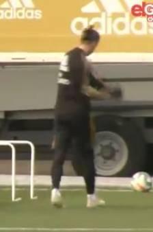 Même à l'entraînement, Gareth Bale ne pense qu'au golf