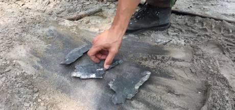 Bom ontploft in Hoevelakense bos: 'Geen knalfuif, wel een mooi einde'