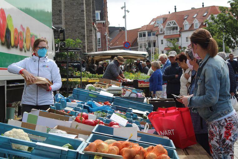 De zaterdagmarkt in coronatijden.
