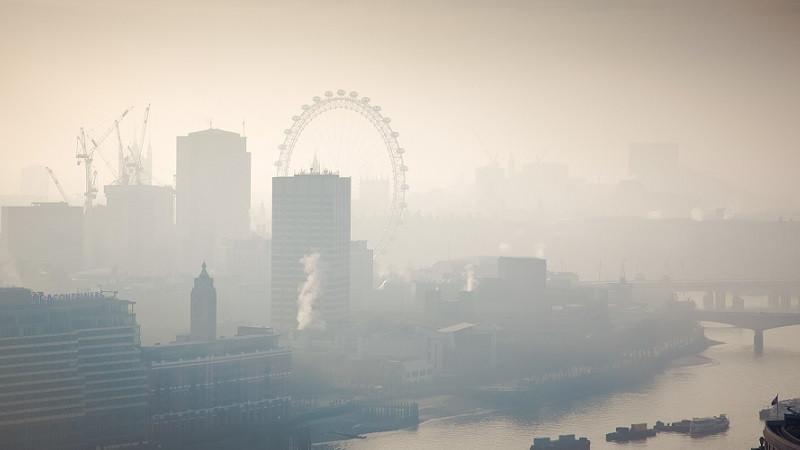 Uitzicht over Londen, vanaf St. Paul's Cathedral