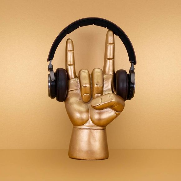 Koptelefoonhouder Rock On; 20,95 euro.